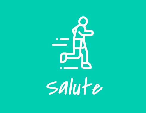Empleados salute it